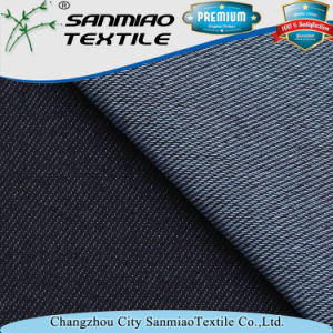 Indigo 30s Polyester Spandex Cotton Twill Denim Fabric