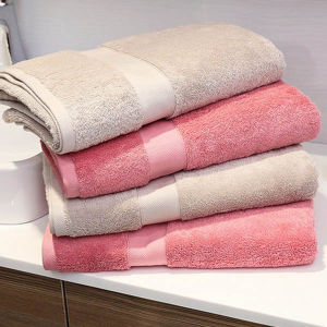 Standard Size 27*54 Colored Cotton Bath Towels for Hotel / Home pictures & photos