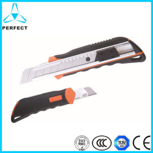 Soft Handle Stainless Steel Auto Lock Alloy Utility Knife pictures & photos