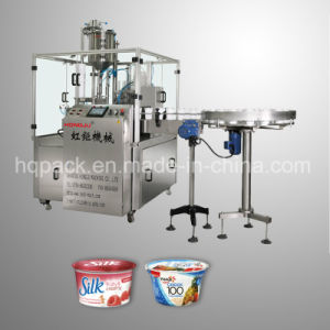 Rotary Type Filling and Sealing Machine for Yogurt Cup