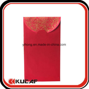 Hot Stamping Fabric Red Leisee Pocket Envelop for Chinese New Year pictures & photos