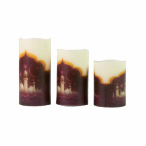 Castle Printed Flameless Electronic LED Candle for Gift and Home Decoration pictures & photos