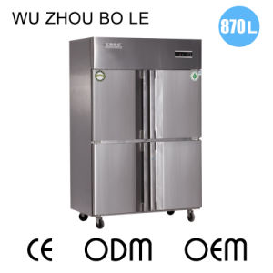 Low Consumption Four Doors Double Compressors Kitchen Refrigerator