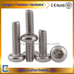 Plum Flower Head Pan Head Machine Screw in Stainless Steel 304 pictures & photos