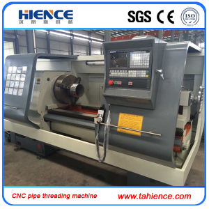 Automatic Metal CNC Pipe Threading Machine Cqk220A pictures & photos