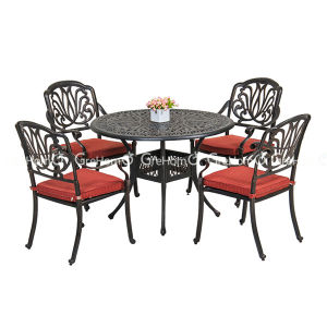 Elegant Aluminum Table and Chair Leisure Garden Furniture
