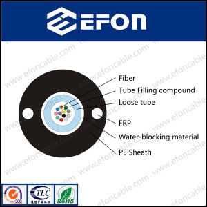 Central Loose Tube FRP Strength Member Optical Fiber Cable (GYFXY) pictures & photos