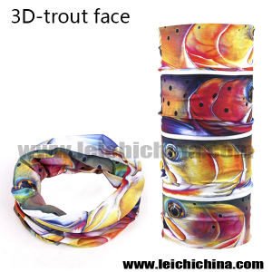 New Arrival 3D Trout Face Fishing Scarf pictures & photos