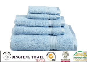 100% Cotton Organic Satin Border Bath Towel pictures & photos