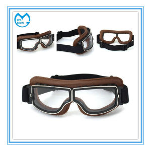 PU Leather PC Lens Moto Eyewear Harley Sports Glasses pictures & photos