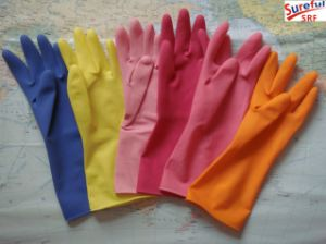Dipped Household Rubber Gloves for Home Appliance (2014SFLG017) pictures & photos