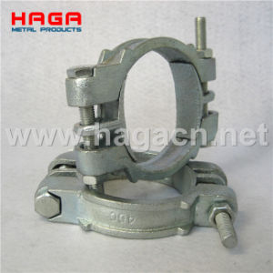 Malleable Carbon Steel Double Bolt Hose Clamp with Saddles pictures & photos
