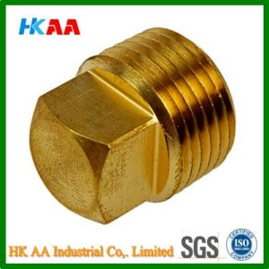Metric External Square Head Brass Pipe Plug pictures & photos