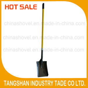 Long Fiberglass Handle Steel Square Shovel pictures & photos