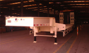 3 Axles Engineering Carrier Low Bed Semi-Trailer pictures & photos