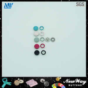 Colorful Enamel Metal Cap Prong Snap Button for Baby Cloth