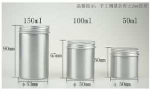 50ml 100ml 150ml Aluminum Jar pictures & photos