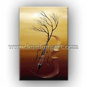 Modern Home Decoration Abstract Art Music Oil Painting Klmap1 0009