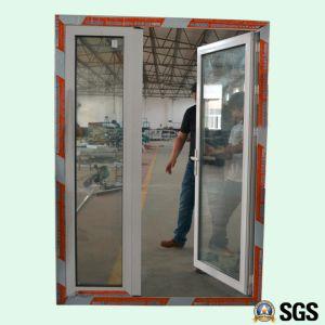 White Colour Powder Coated Aluminum Unequal Leaves Double Casement Door Aluminium Door Door K06021 & China White Colour Powder Coated Aluminum Unequal Leaves Double ...