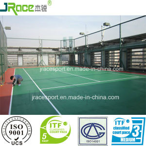 Dirt-Resistant Tennis Court Sports Flooring Suitable for School pictures & photos