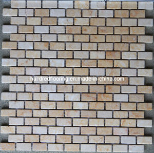 Strip Tile, Beige Marble Stone Mosaic (HSM116) pictures & photos