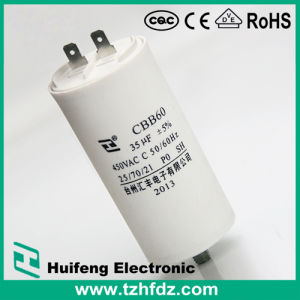 (CBB60) 250VAC 100UF Motor Run Capacitor with Pins pictures & photos