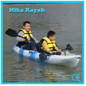 Sit on Top Double Kayak Fishing Boats Plastic Canoe pictures & photos
