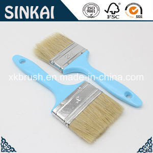 Factory Price Plastic Handle Paintbrush with Natural Bristle pictures & photos