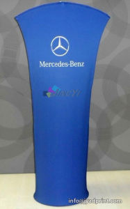 Free Standing Trade Show Arc Top Display Stand Tension Banner