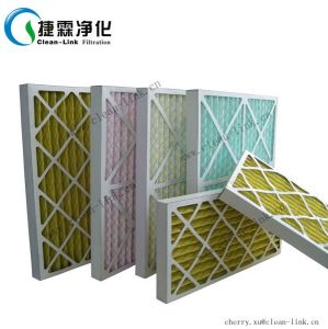 Cardboard Frame Pleated Panel Air Filter Folding Primary Air Filter G4 pictures & photos