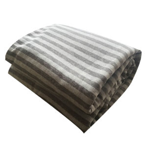 100% Polyester Cationic Fabric Stripe 2 Jacquard and Sherpa Blanket