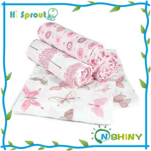 "100% Cotton Baby Muslin Swaddles 47X47"" After Washing"