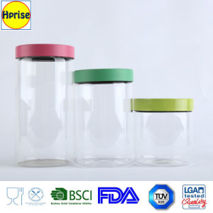Wholesale Borosilicate Glass Canister with Colorful Lid