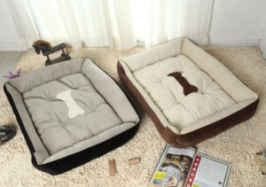 Bone Printed Style Soft Warm Pet Bed