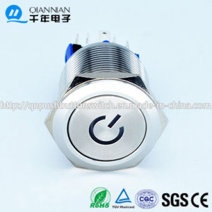 22mm Power Symbol Sliver Electronics Stainless Push Button pictures & photos