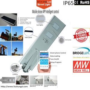 18W New Design Cellphone/Mobile WiFi Control Solar Street Light