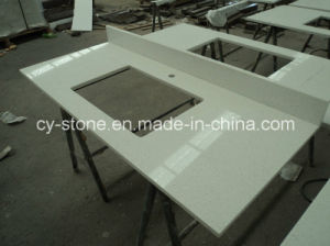 Natural Polished Decorative White Artificial Stone for Countertop