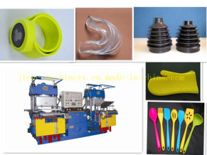 Two Stations Vacuum Pump Rubber Silicone Hydraulic Press Machine pictures & photos