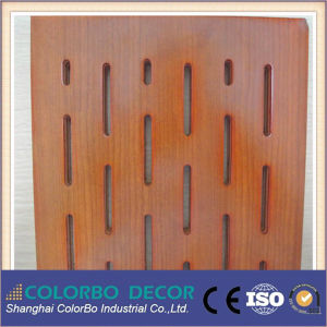 Slots Wooden Timber Decorative Wall Fireproof Acoustic Insulation Panel pictures & photos