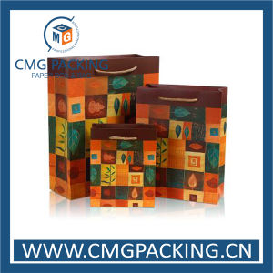 Custom Printed Logo Colorful Paper Shopping Bag (DM-GPBB-221) pictures & photos