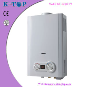 White Panel LPG Flue Type Gas Water Heater with CE