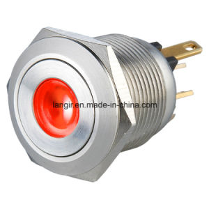 22mm DOT Illuminated Momentary Normal Open Push Button Switch pictures & photos