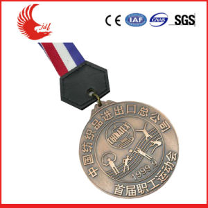 New Style Custom Made Metal Plated Medal with Ribbon pictures & photos