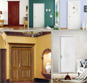 Classic Double Solid Wooden Interior Door for Room (WDB02) pictures & photos