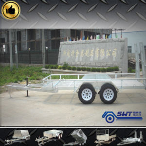 Heavy Load Car Carrying Trailer with Steel Cage pictures & photos