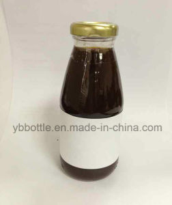 Glass Bottle, Juice Glass Bottles with Metal Cap