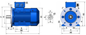 Ye2 Three Phase 7.5kw Electro-Magnetic Speed-Governing Asynchronous Motor pictures & photos
