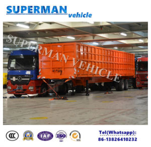 13 Meters Heavy Duty Two Axle Compartment Side Wall Cargo Truck Semi Trailer pictures & photos