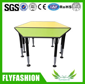 Nursery School Furniture Kids Study Trapezoid Table for Sale (SF-42C) pictures & photos