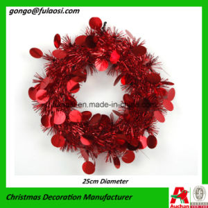 Metallic Wreath Garland for Christmas Decoration
